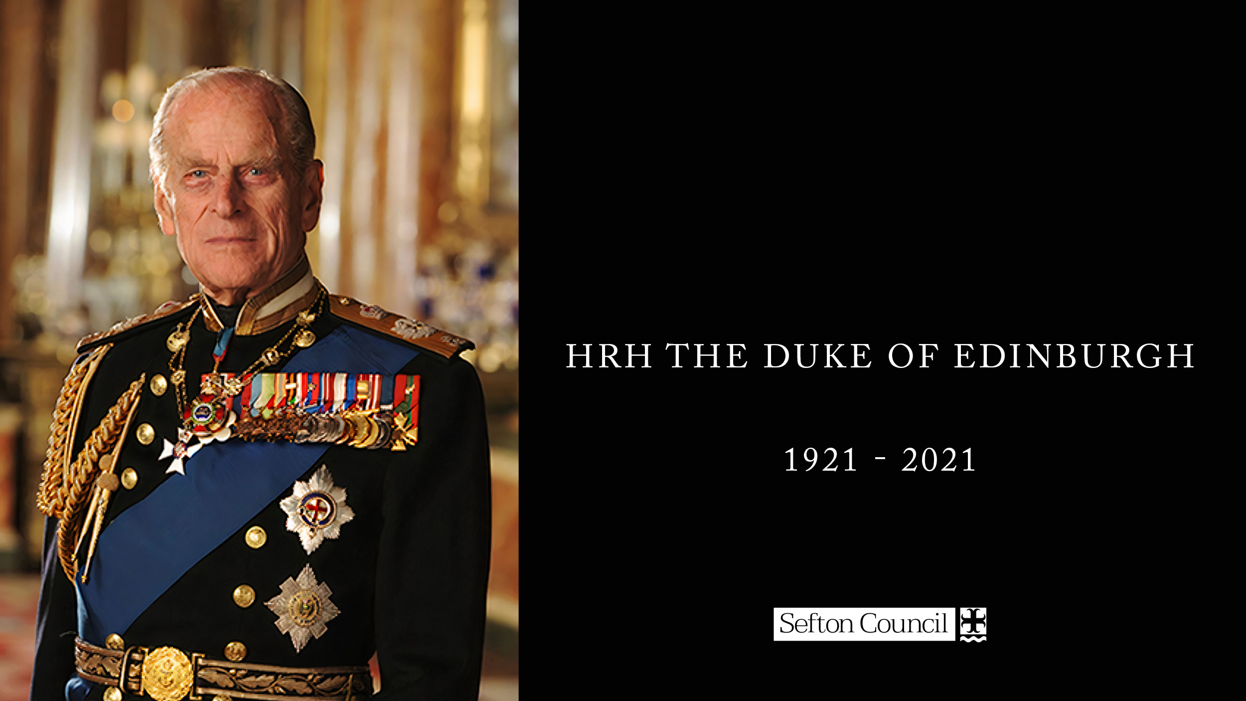 HRH Prince Philip, Duke of Edinburgh in full dress uniform